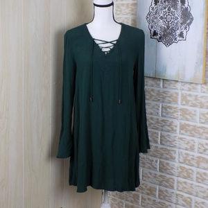 Xhilaration dark mossy green tunic dress